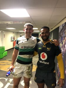 Former Yarm School pupils and professional rugby players Ben Stevenson and Zach Kibirige