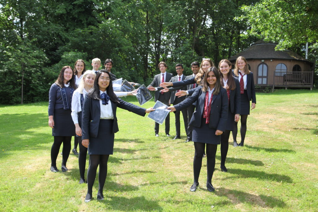 2020 School Officers hand over blues to 2021 Yarm School Officers