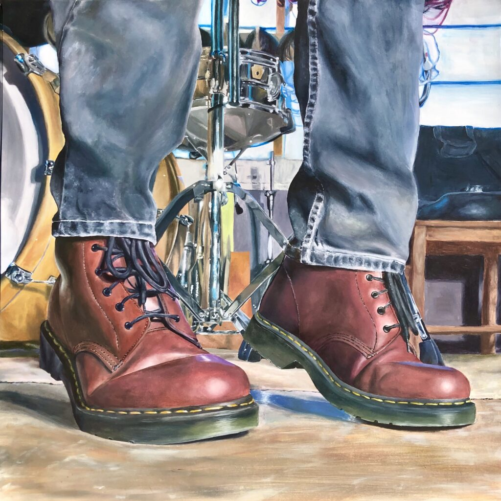 Oil painting by Yarm School Sixth Form student