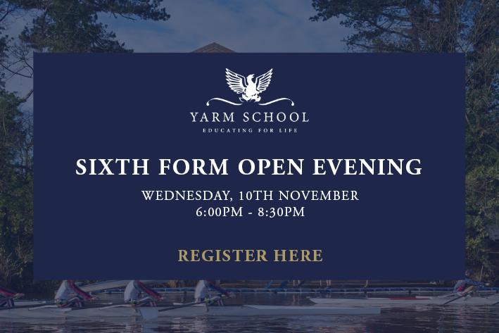 Yarm School Sixth Form Open Evening 2021